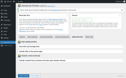 Page screenshot: Advanced iFrame → Add/Include files
