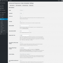 Page screenshot: Settings → ARVE