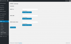 Page screenshot: Settings → ARVE Licenses