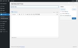 Page screenshot: ACF Posts → Add New ACF Post
