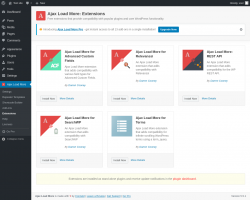 Page screenshot: Ajax Load More → Extensions