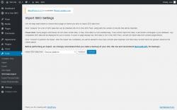 Page screenshot: Tools → SEO Data Import