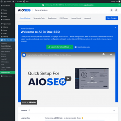 Page screenshot: All in One SEO → General Settings