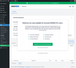 Page screenshot: Tools → Redirection Manager