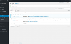 Page screenshot: Plugins ‹ Test site — WordPress