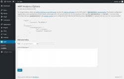 Page screenshot: AMP → Analytics