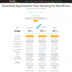 Page screenshot: Appointment Hour Booking → Upgrade Plugin