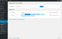Page screenshot: Appointment Hour Booking Options ‹ Test site — WordPress
