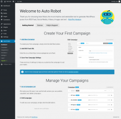Page screenshot: Auto Robot