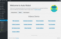 Page screenshot: Auto Robot →  				Demos