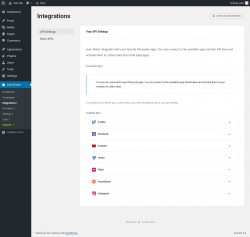 Page screenshot: Auto Robot → Integrations ⇪