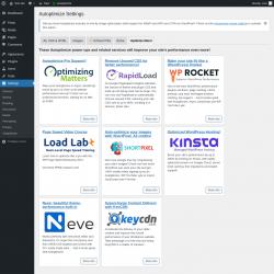 Page screenshot: Settings → Autoptimize → Optimize More!
