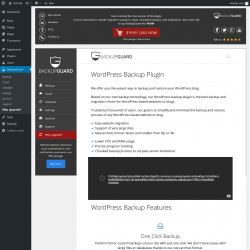 Page screenshot: BackupGuard → Why upgrade?