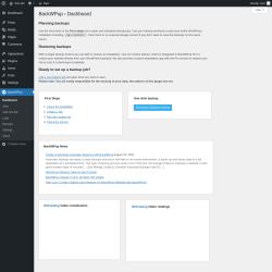Page screenshot: BackWPup