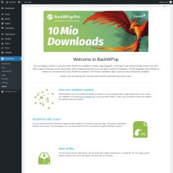 Page screenshot: BackWPup → About