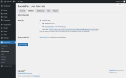 Page screenshot: BackWPup → Add new job → Schedule