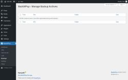 Page screenshot: BackWPup → Backups