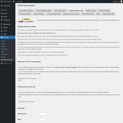 Page screenshot: Settings → bbp Private Groups → Assign groups to roles