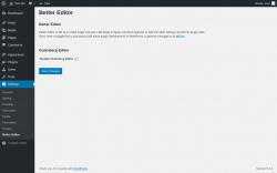 Page screenshot: Settings → Better Editor