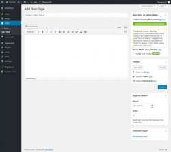 Page screenshot: Edit Page ‹ Test site — WordPress