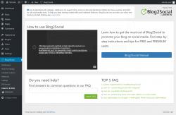 Page screenshot: Blog2Social → How to & FAQ