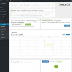 Page screenshot: Blog2Social