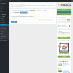 Page screenshot: Blog2Social → Content Curation