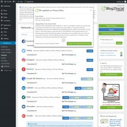 Page screenshot: Blog2Social → Networks
