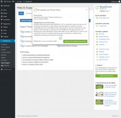 Page screenshot: Blog2Social → Help & Support