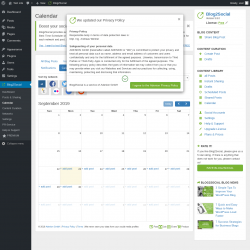 Page screenshot: Blog2Social → Calendar