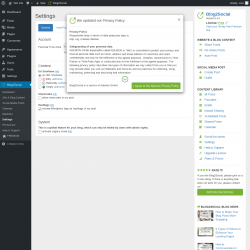 Page screenshot: Blog2Social → Settings