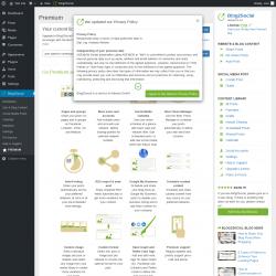 Page screenshot: Blog2Social →  PREMIUM