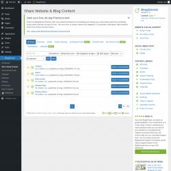 Page screenshot: Blog2Social → Site & Blog Content