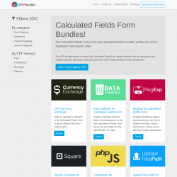 Page screenshot: Calculated Fields Form → Marketplace