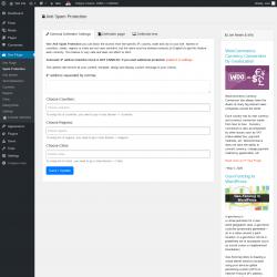 Page screenshot: Geo Plugin → Spam Protection