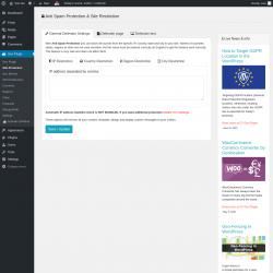 Page screenshot: Geo Plugin → Site Protection