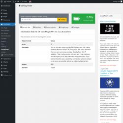 Page screenshot: Geo Plugin → Debug Mode