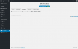 Page screenshot: Chief Editor → Comments