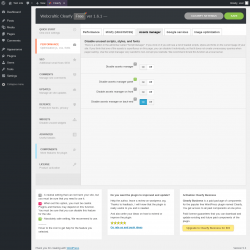 Page screenshot: Minify (Html/JS/CSS) →  						Assets manager