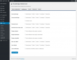 Page screenshot: Settings → Cloudbridge Mattermost → Notifications