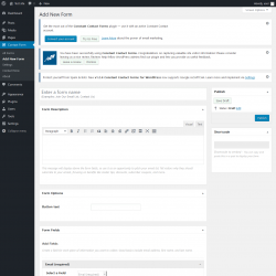 Page screenshot: Contact Form → Add New Form