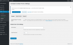 Page screenshot: Contact Form → Settings