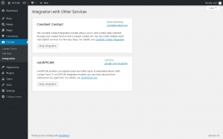 Page screenshot: Contact → Integration