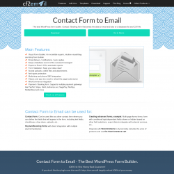 Page screenshot: Contact Form to Email → Help: Online demo