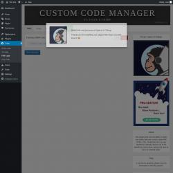 Page screenshot: Code → PHP code