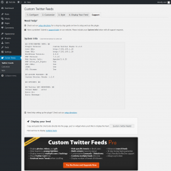 Page screenshot: Twitter Feeds → Support