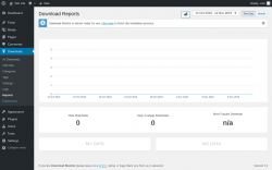 Page screenshot: Downloads → Reports