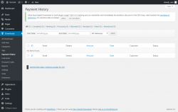 Page screenshot: Downloads → Payment History
