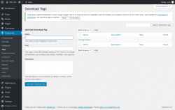 Page screenshot: Downloads → Tags