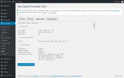 Page screenshot: Downloads → Tools → System Info